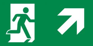vluchtroute trap op rechts