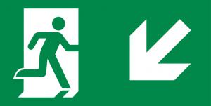 vluchtroute trap af links